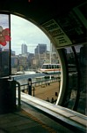 Monorail train approaching Harbourside Station with Happy Birthday Monorail on the front thumbnail