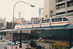 Monorail train in Harbour Street thumbnail
