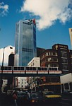 Monorail train in Liverpool Street viewed from George Street thumbnail