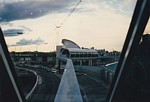 Overcast view of Harbourside Station from rear of Monorail train thumbnail