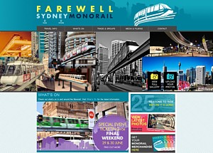 Monorail closure web site June 2013 from the Internet Archive