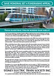 SETS Members Monorail Fundraising Flyer